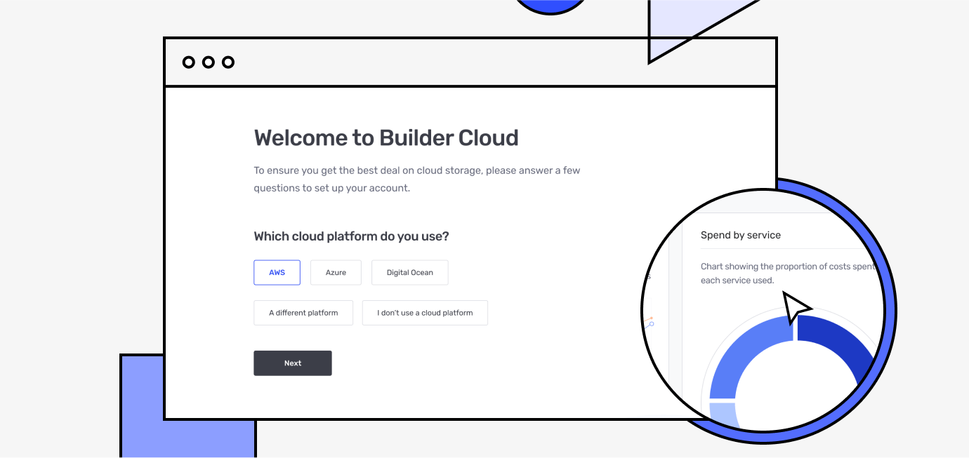 Builder Cloud dashboard with cloud partners