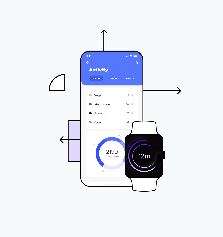 Wearable app technology illustration