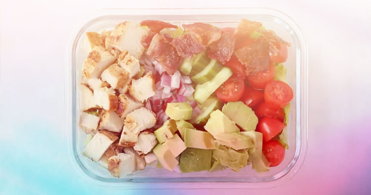 easy lunch - chopped chicken salad