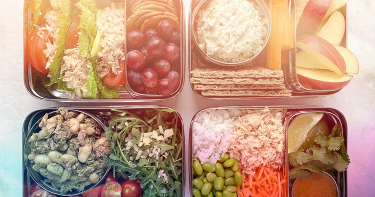easy lunch - tuna salad protein box