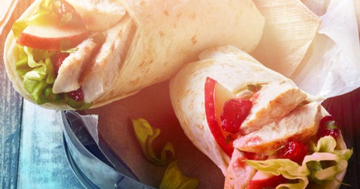 easy lunch - spicy turkey wrap