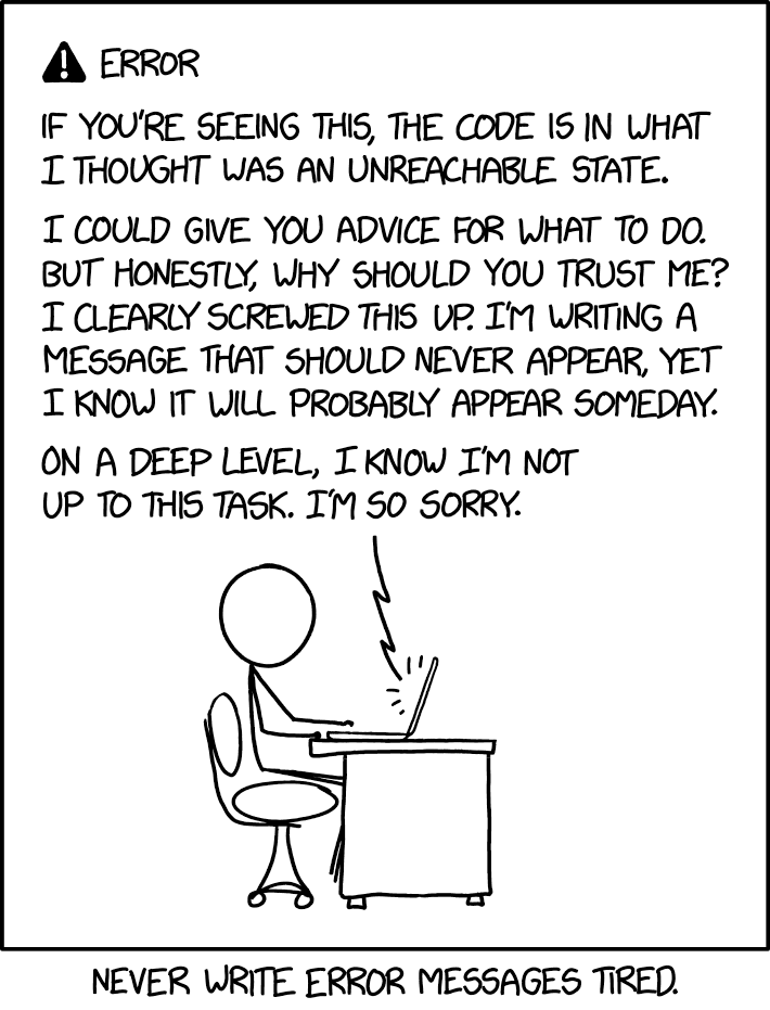 xkcd - unreachable state