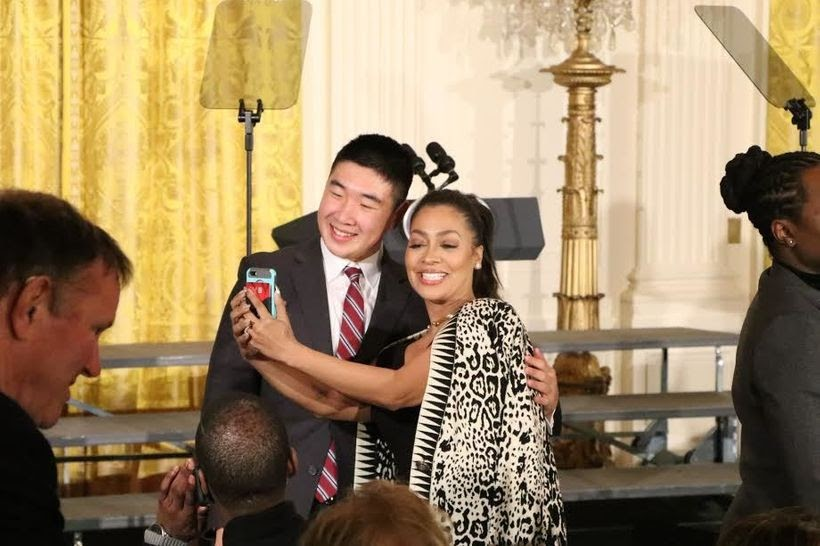 White House- former MTV host and TV personality Lala Anthony was spotted in the East Room taking selfies with a member of the