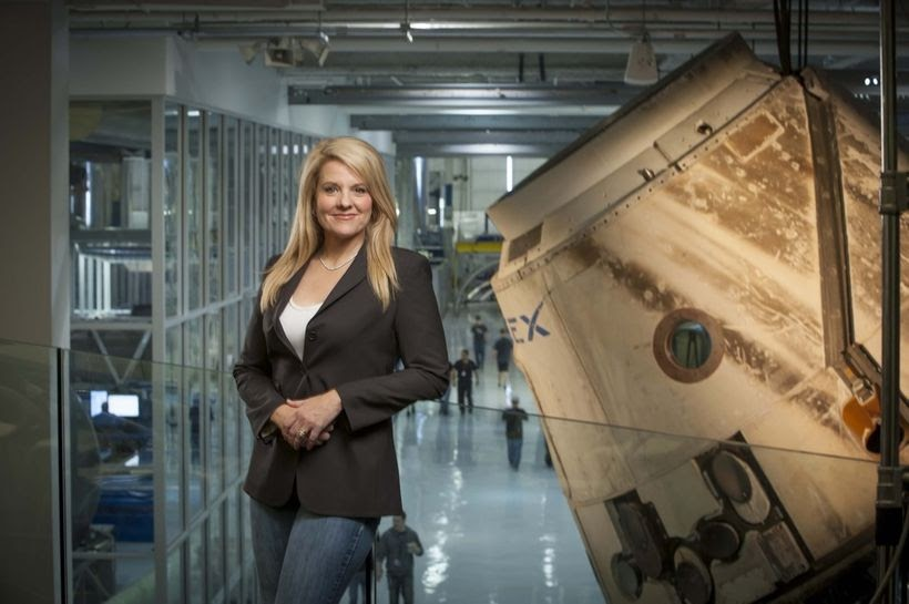 Gwynne Shotwell is here to help us get closer to the future. She's the president of elon musk's spacex, a company invested in