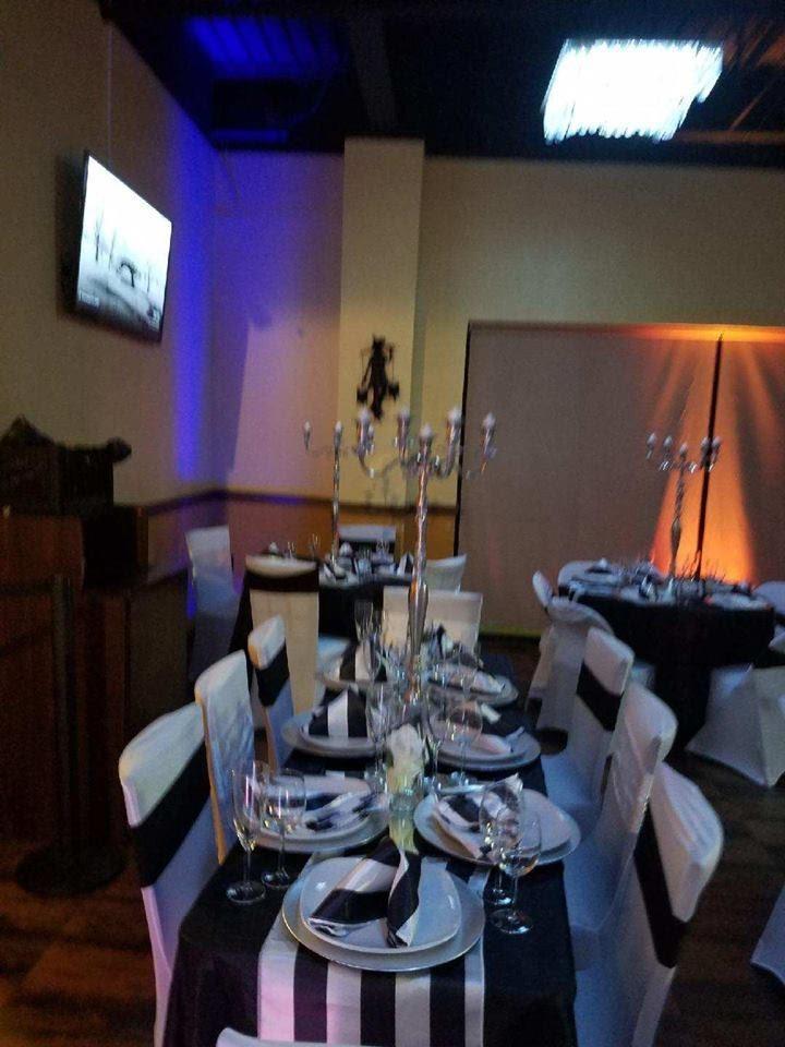 image of an event set-up Inside Kingsway Cafe