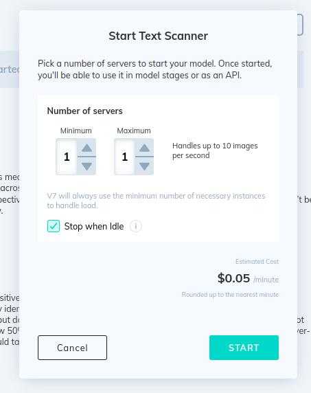 V7 Text Scanner deployment dashboard