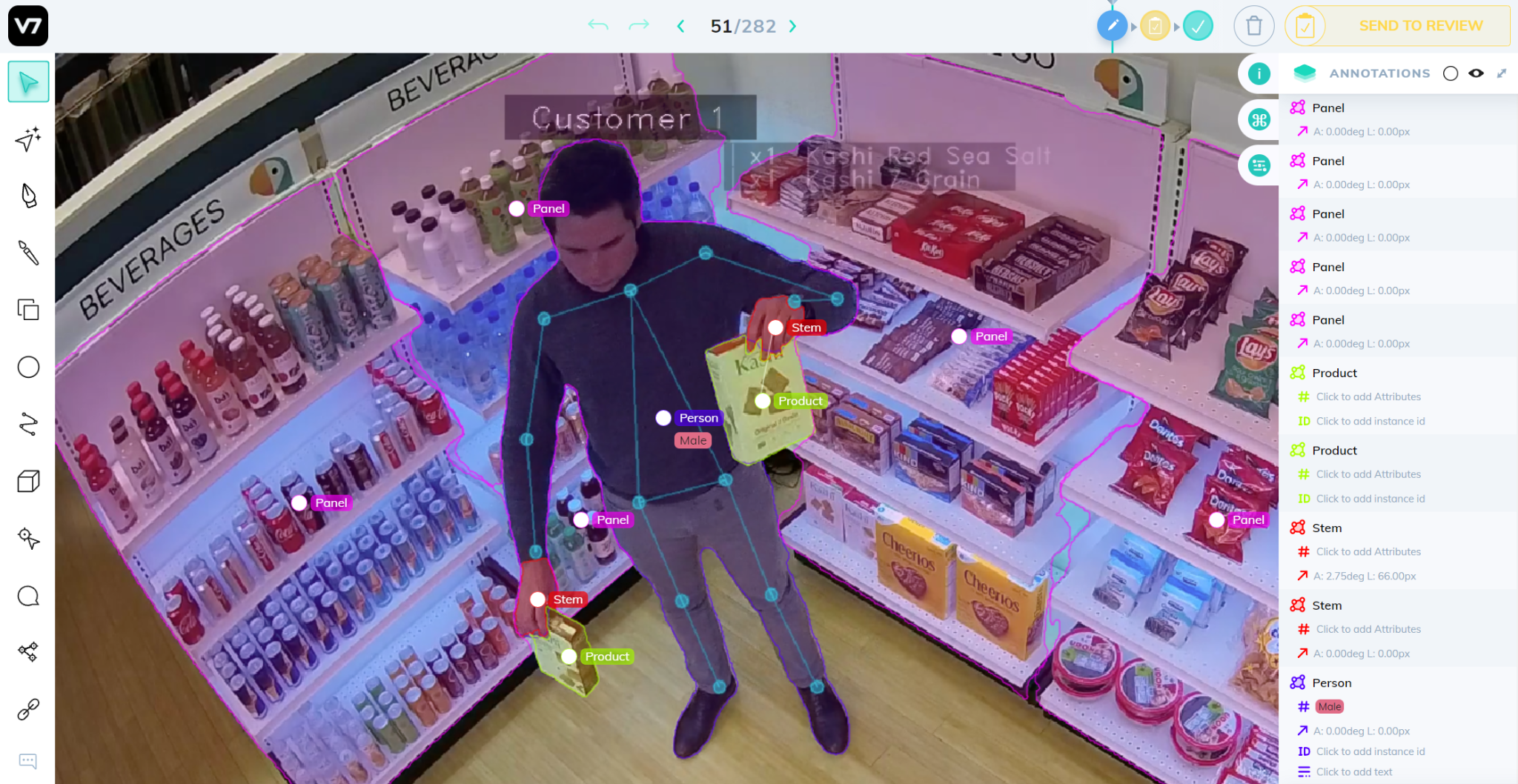Computer-vision powered cashireless checkout experience using CCTV footage.