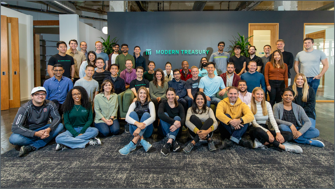 The Modern Treasury Team at our San Francisco offsite in September 2021.