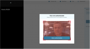 Example of our facial recognition software in action