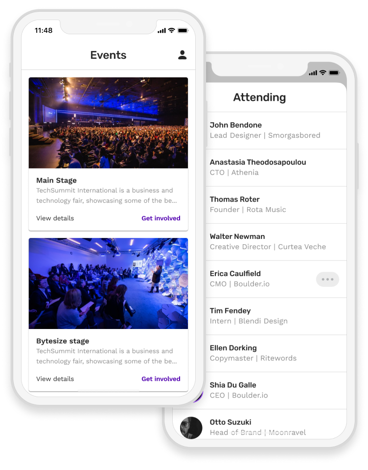 Event app with event detail