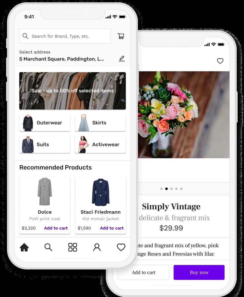 Flower retail app
