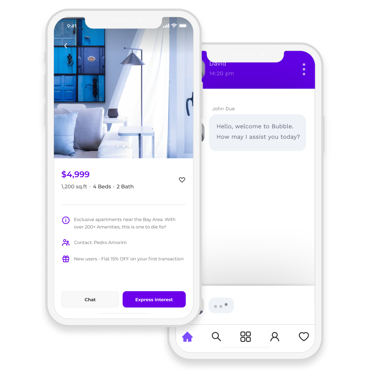 Classified app with item description