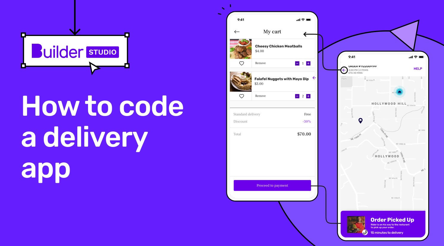 How to code a food delivery app?