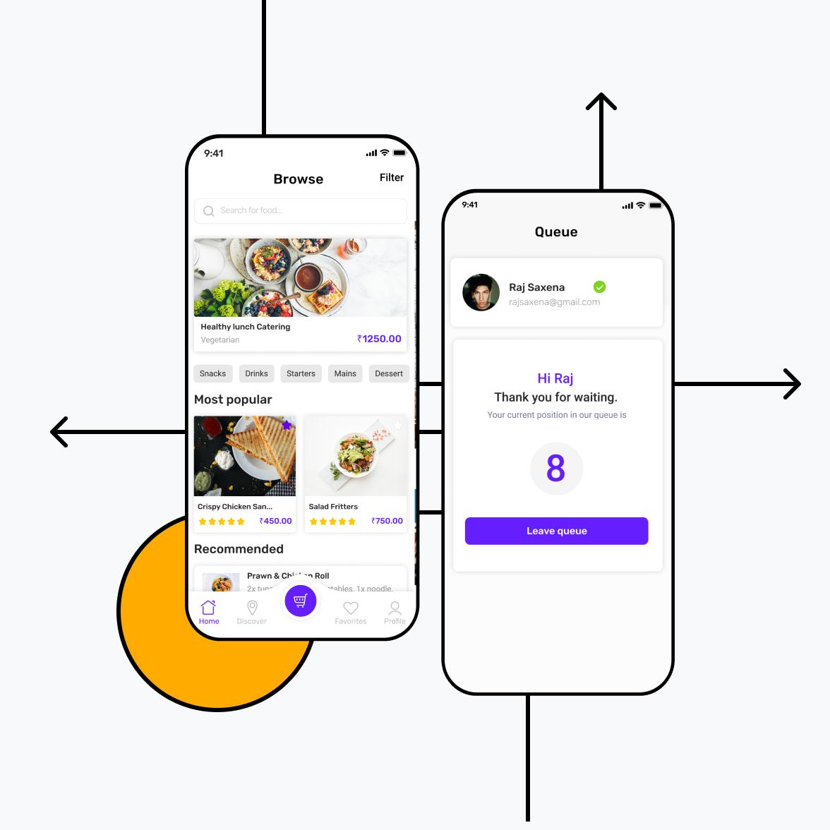 Restaurant app illustration for iOS