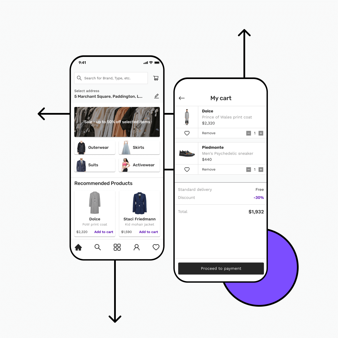 Retail android app illustration