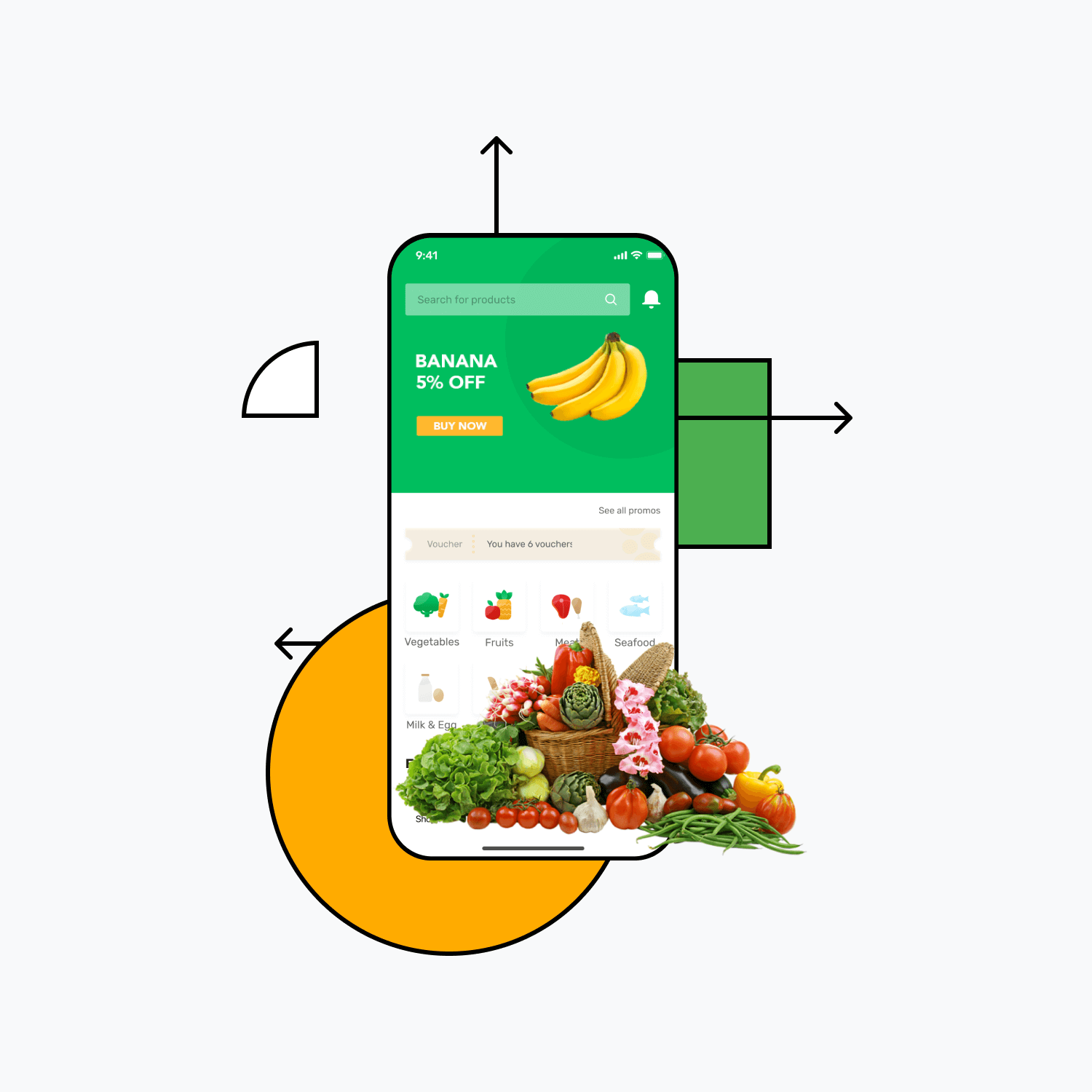 Build a vegetable delivery app