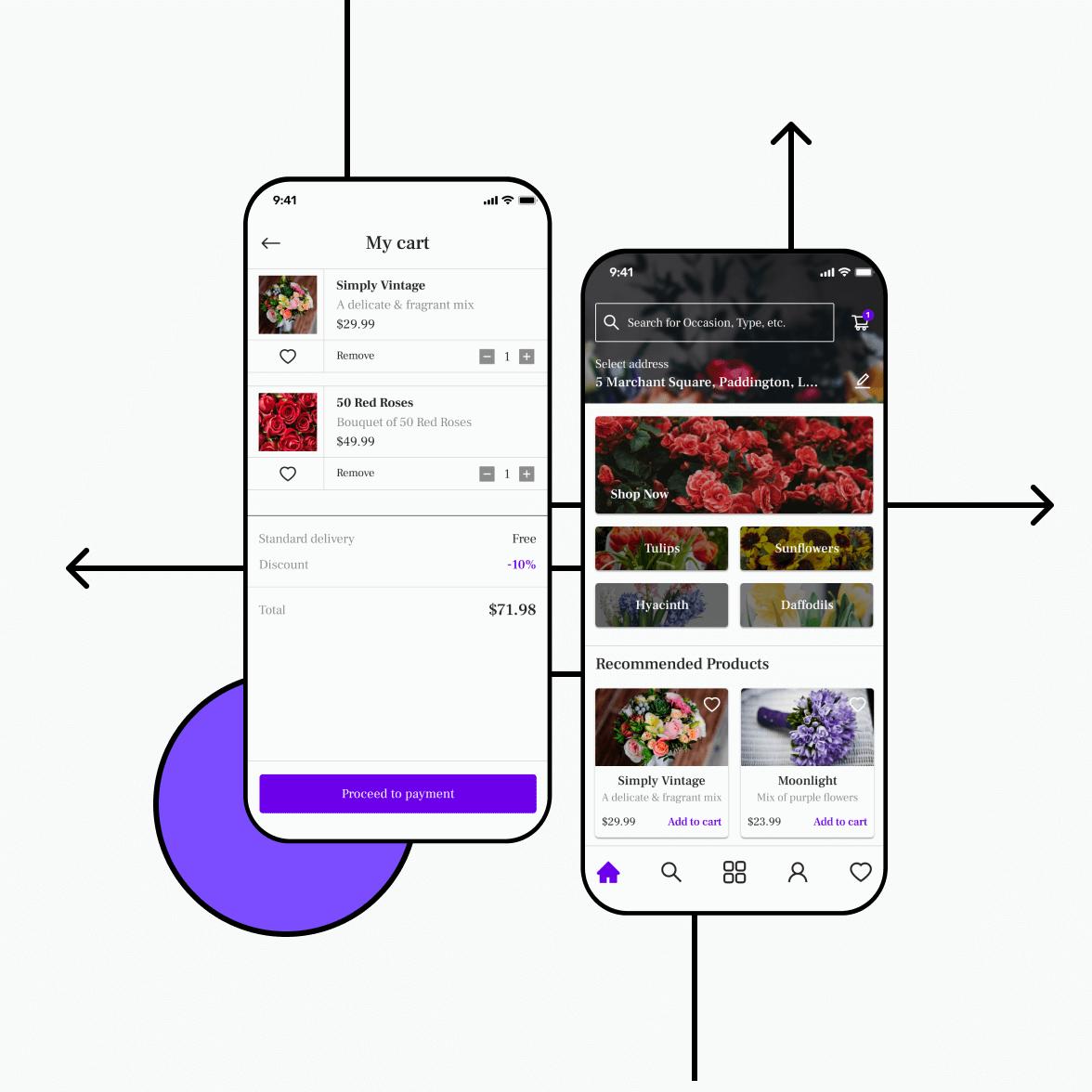 Florist app home screen