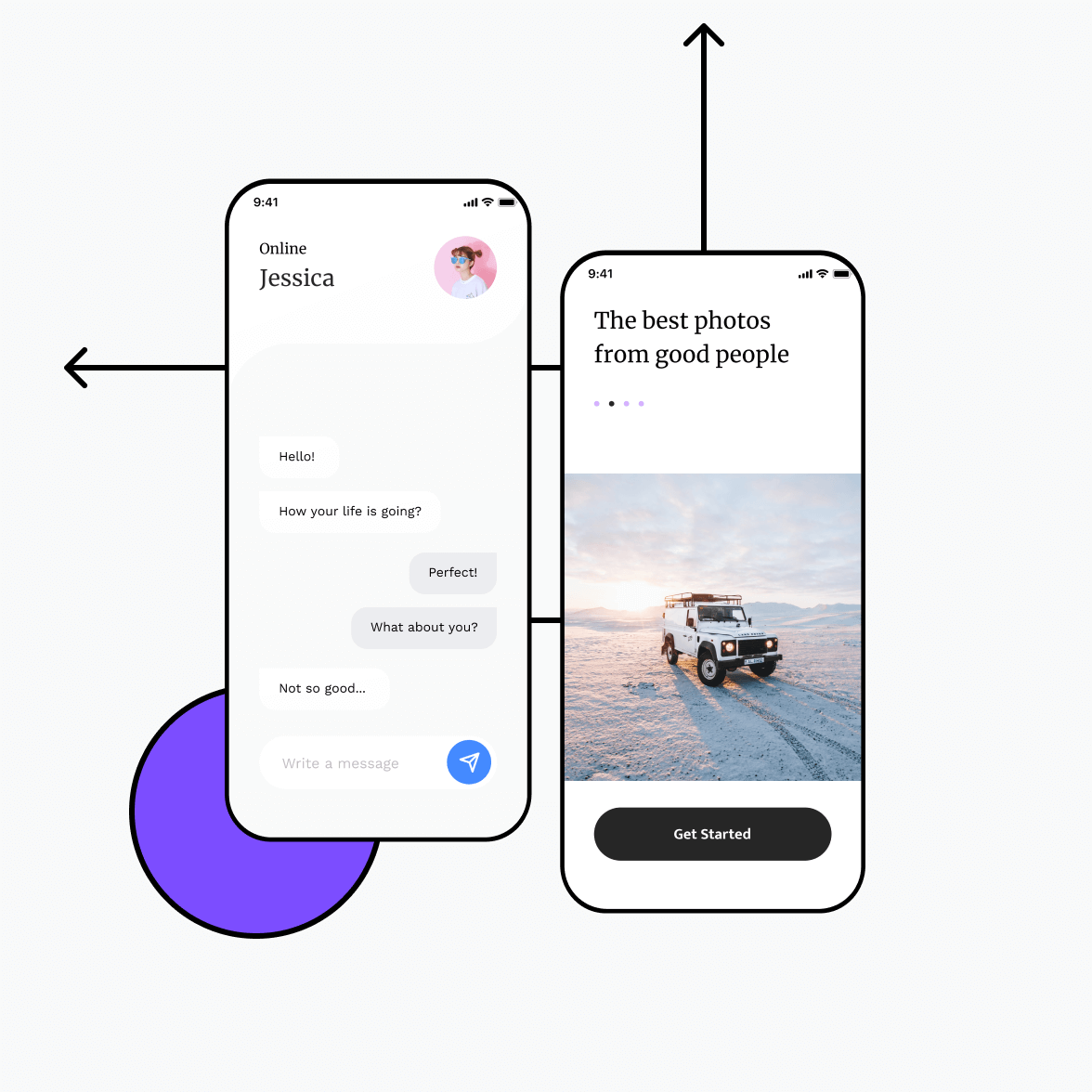 Social networking app with chat screen