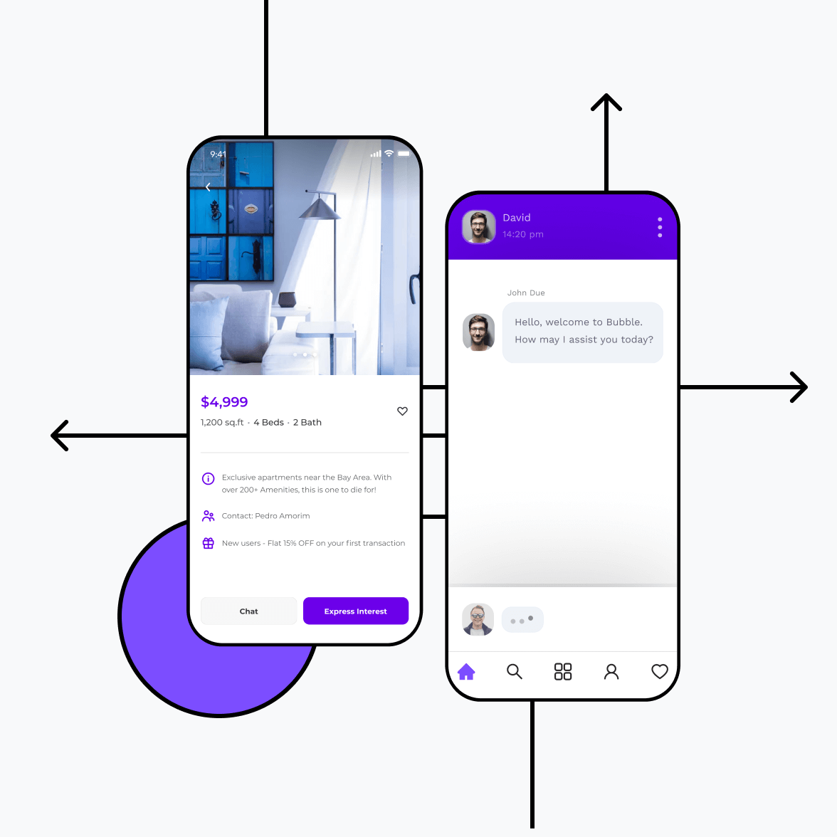 Classified app with product listing