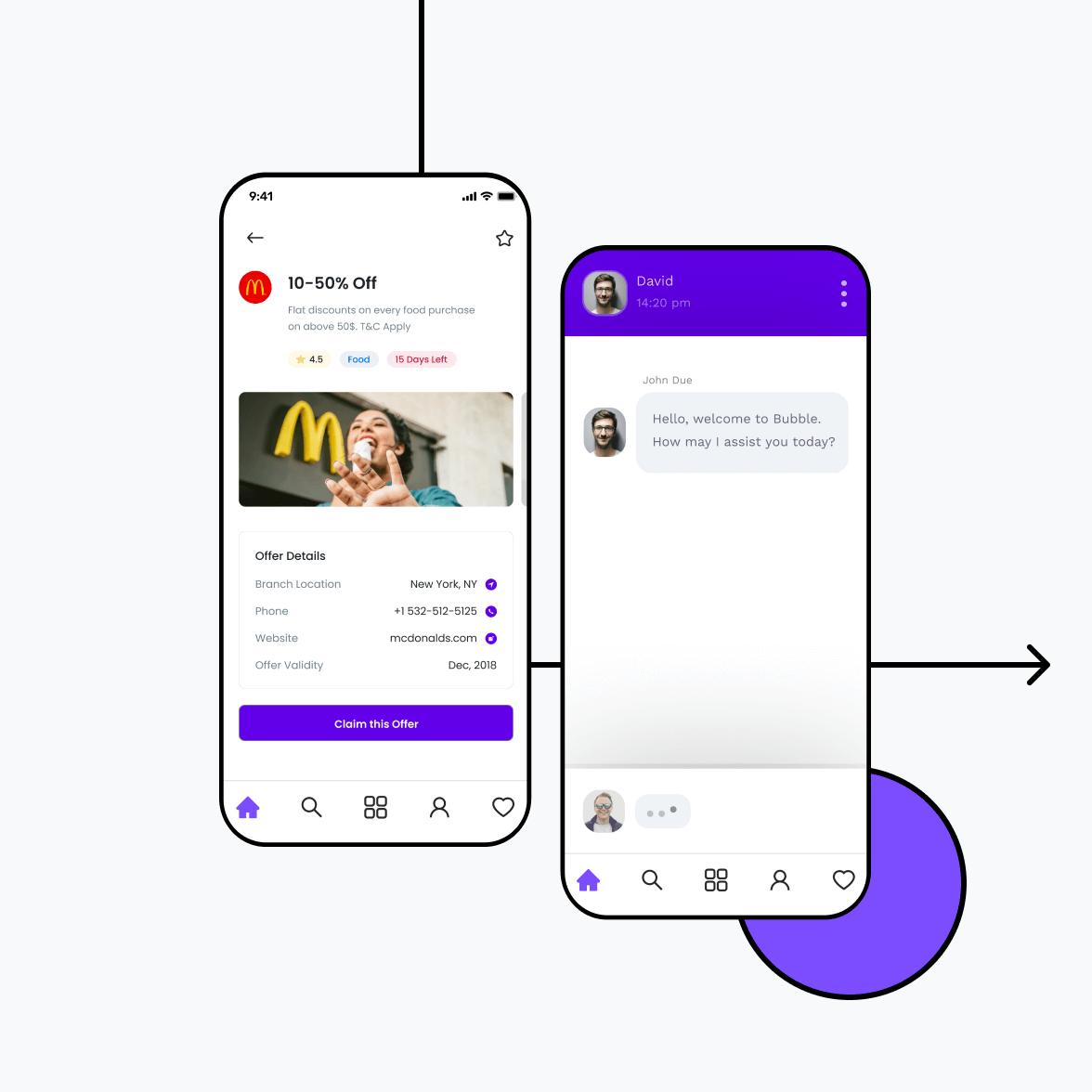 Daily deal app offer details