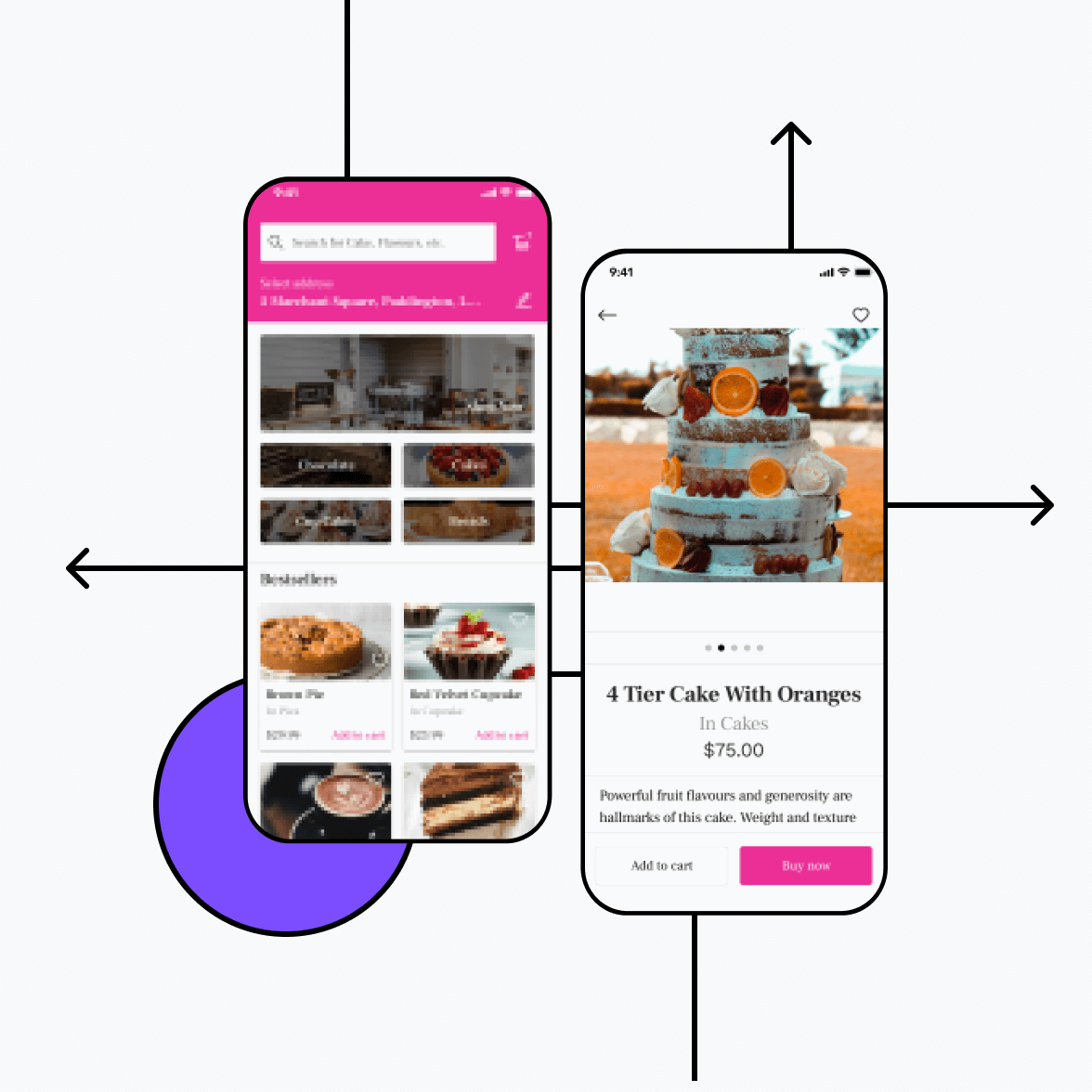 Bakery app with product details
