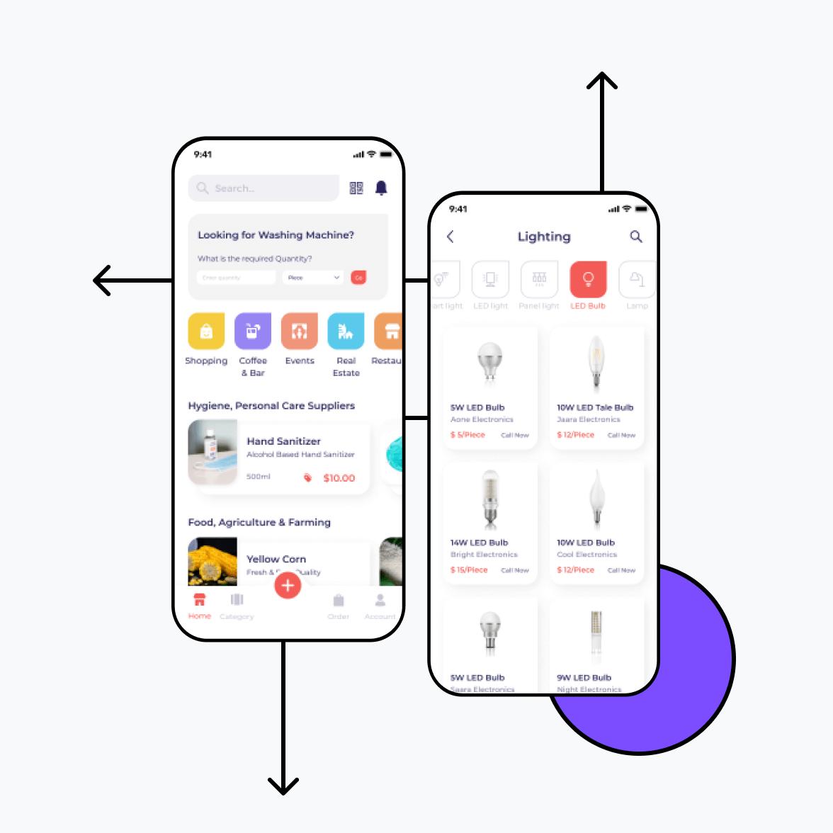 Directory app home screens