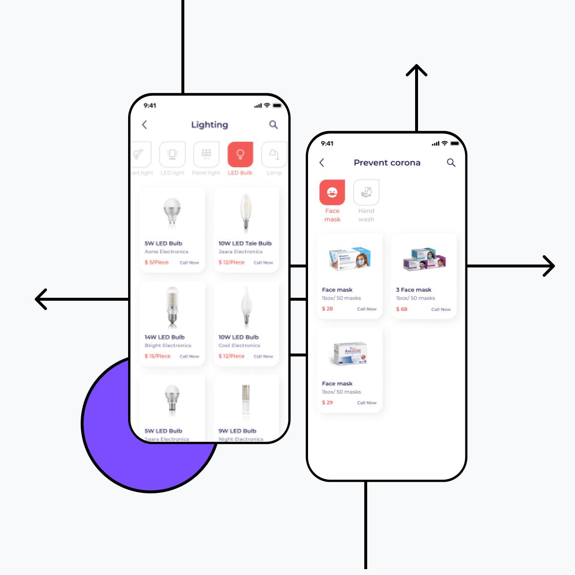 Directory app categories screen