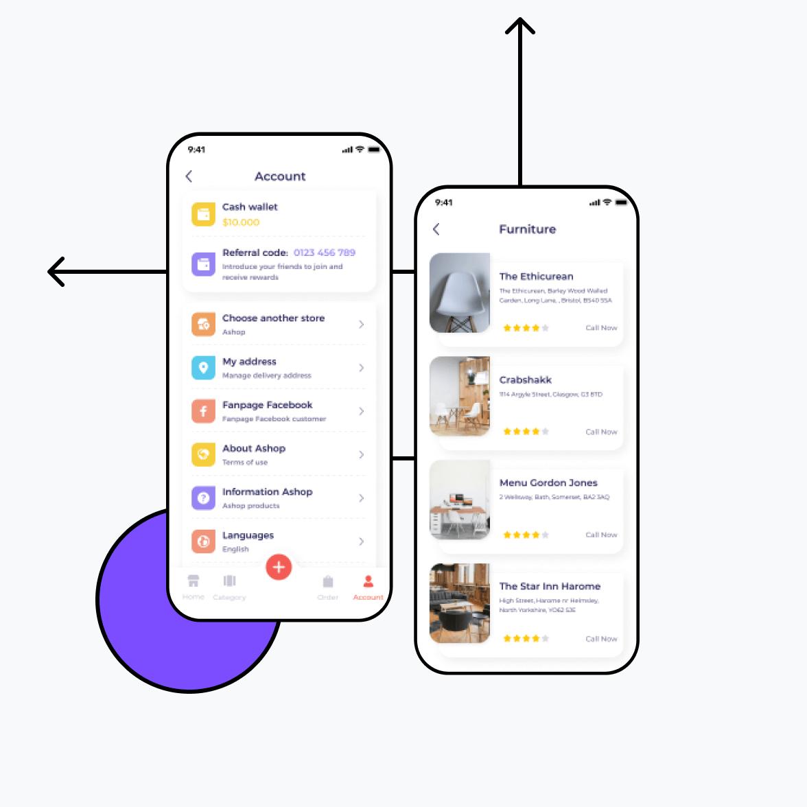Directory app account screen
