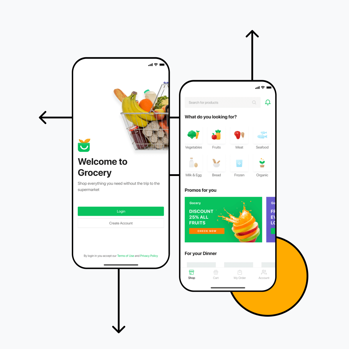 Grocery delivery app for vegetable delivery