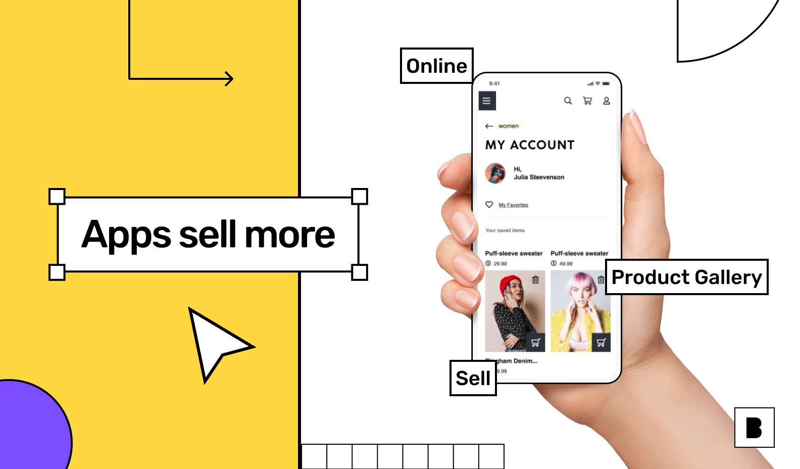 ecommerce app with my account screen