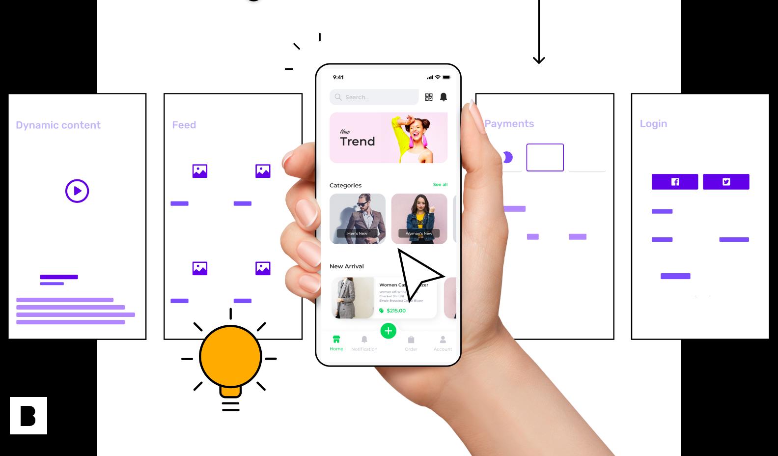 ecommerce app screens for affiliate programmes