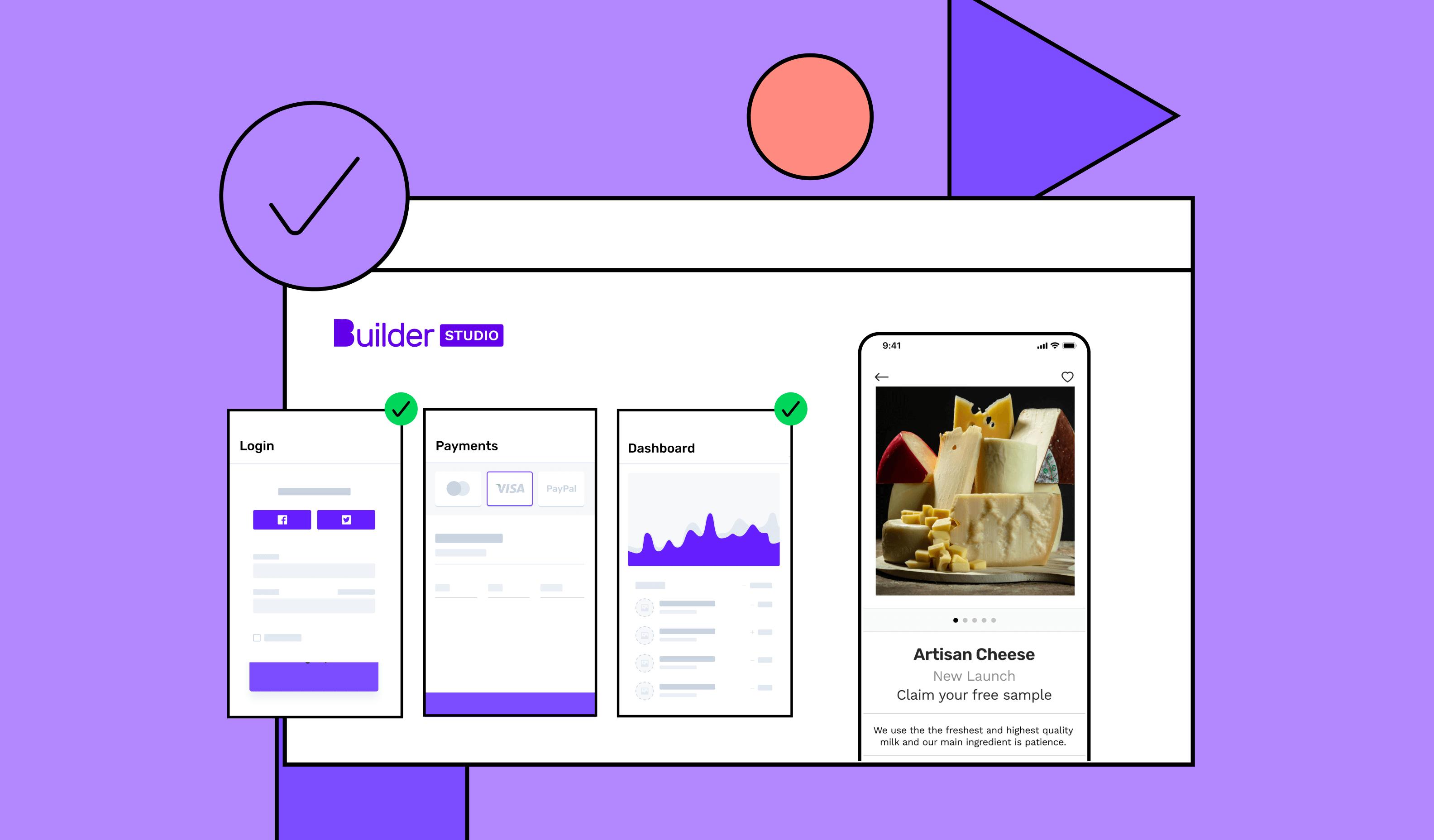 Building an app with Builder Studio, a no-code app builder