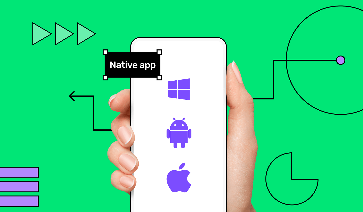 Native app (iOS, Android and Windows)