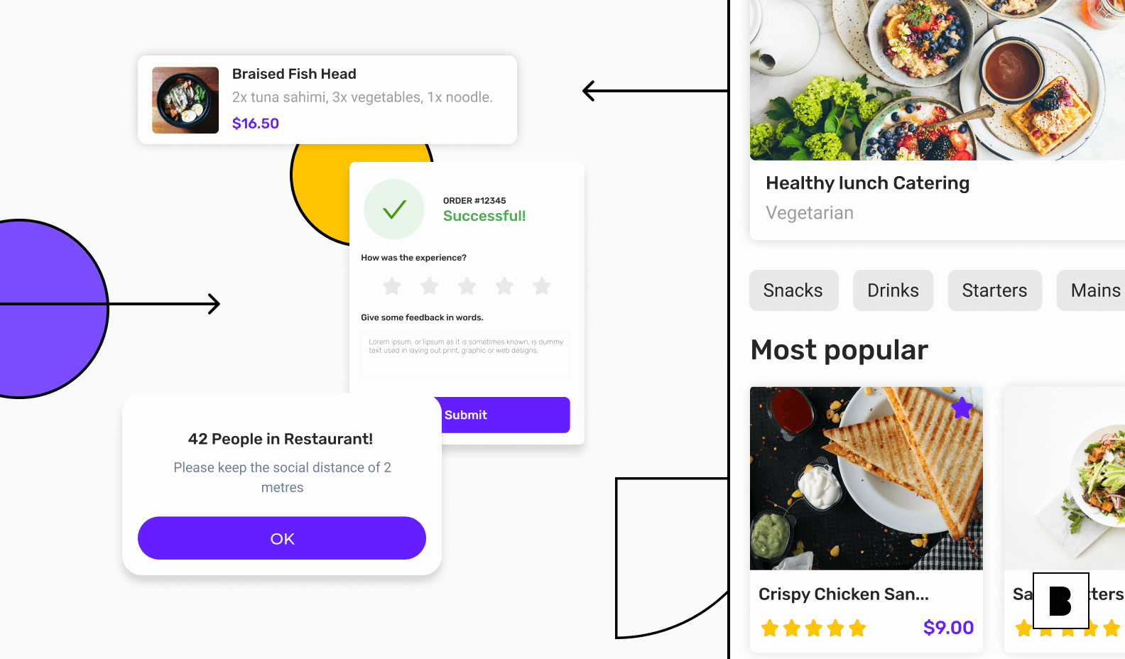Takeaway and restaurant app backend