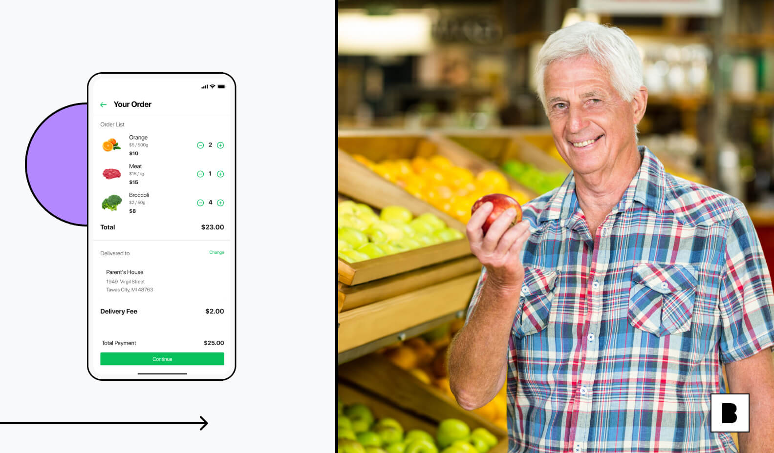 Grocery app personalisation