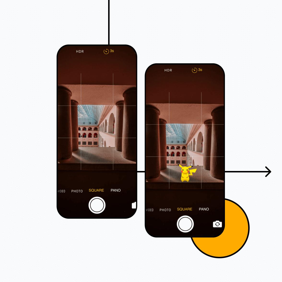 AR app screens