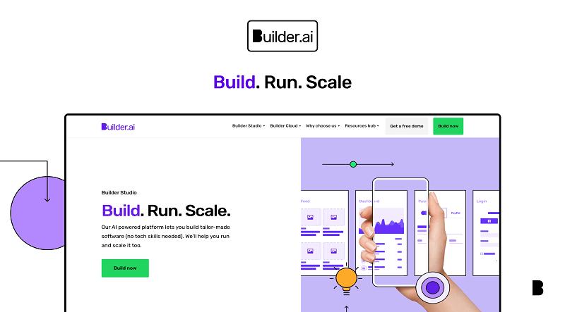 Builder.ai website builder
