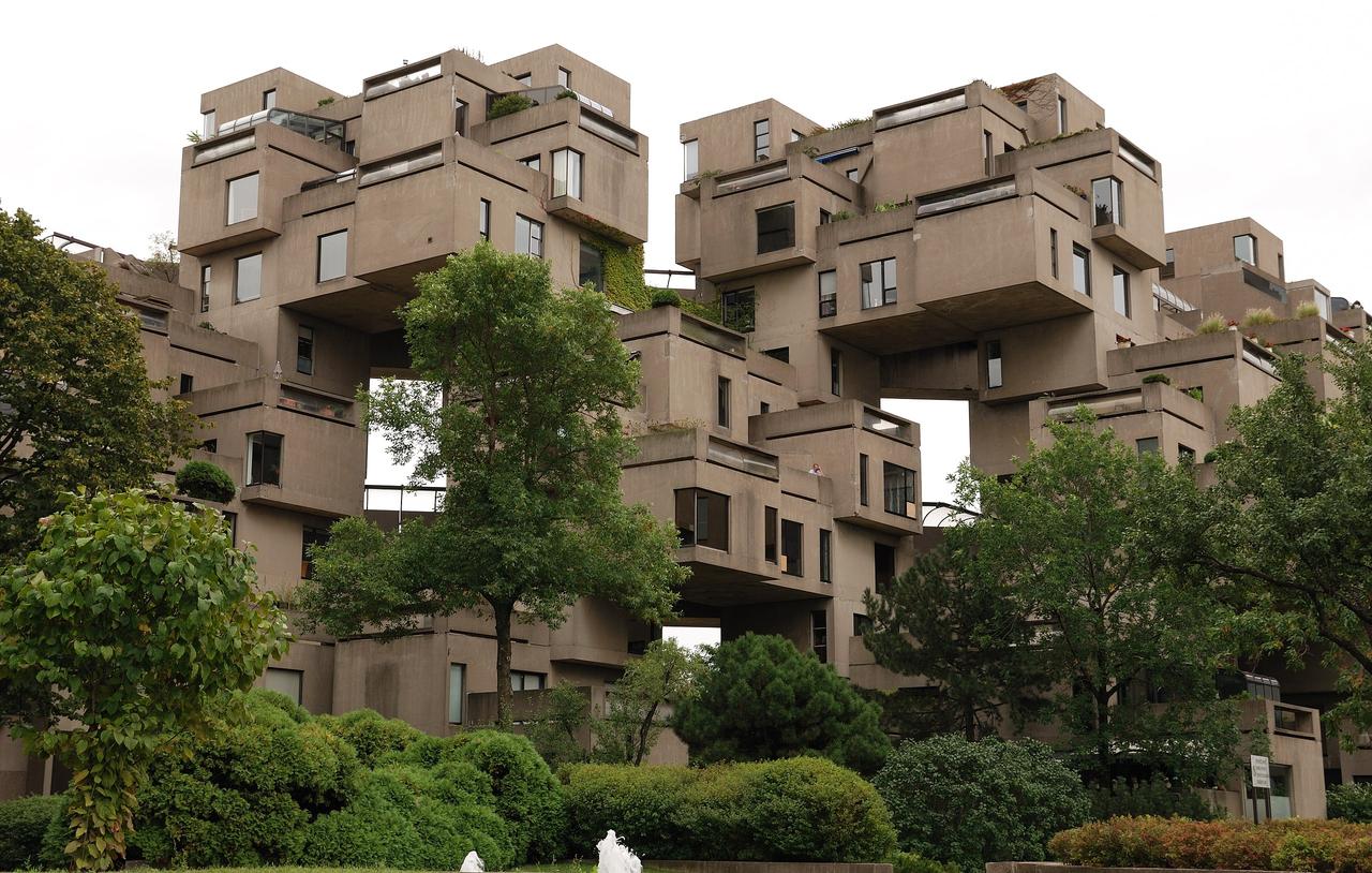 Habitat 67 designed by Moshe Safdie, 1967
