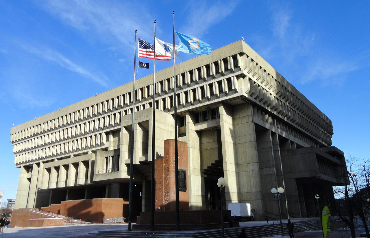 Boston City Hall by Kallmann, McKinnel & Knowles, 1968