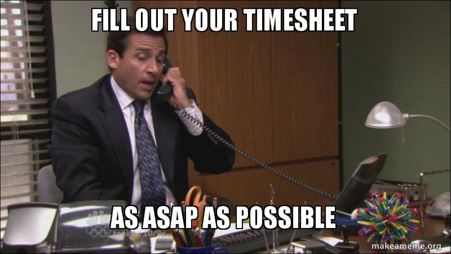 Submit timesheets meme
