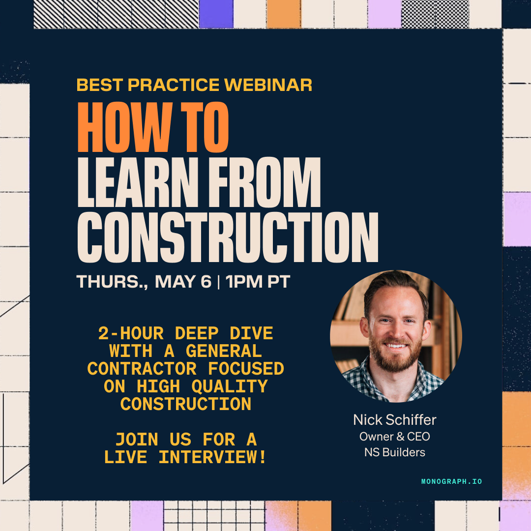 How To Learn From Construction - Nick Schiffer