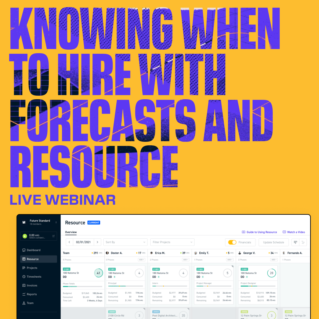 Knowing When to Hire with Forecast and Resource