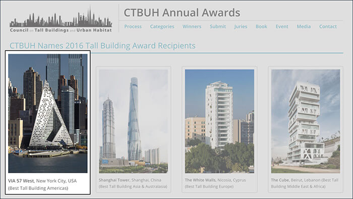 Council on Tall Buildings and Urban Habitat's 2016 Best Tall Building Award