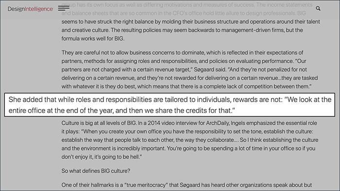 DesignIntelligence Article on BIG Architects