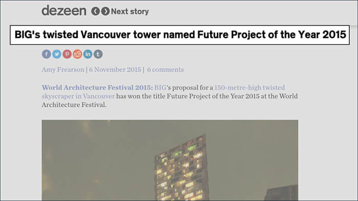 World Architecture Festival Future Project of the Year in 2015