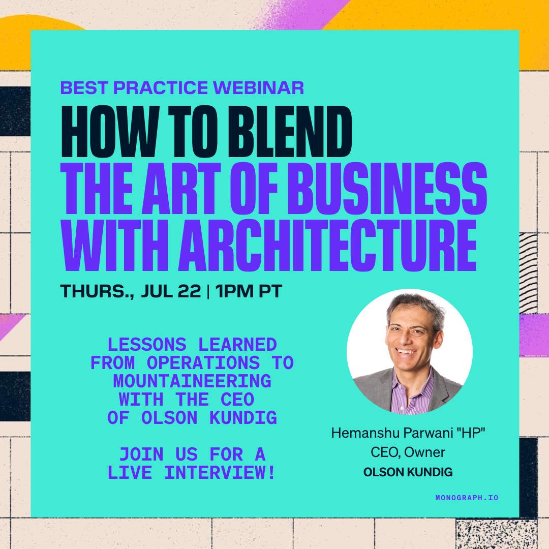 """How to Blend the Art of Business with Architecture (w/ Olson Kundig CEO, Hemanshu Parwani """"HP"""")"""