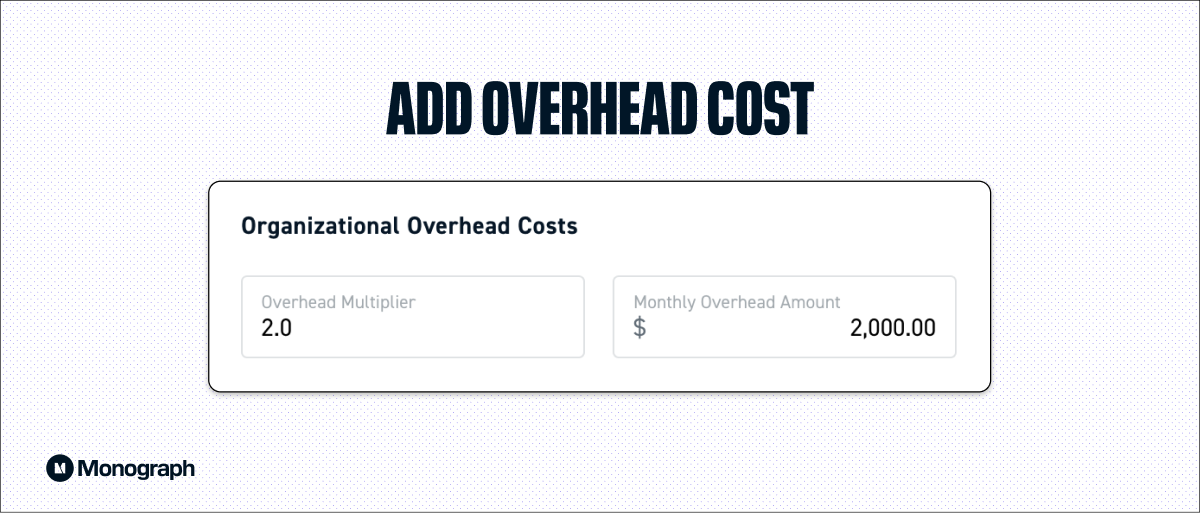 Add overhead multiplier for your firm under Organizational Settings