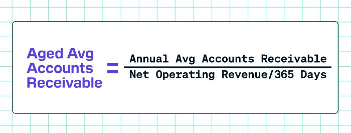 Aged Average Accounts Receivable Formula