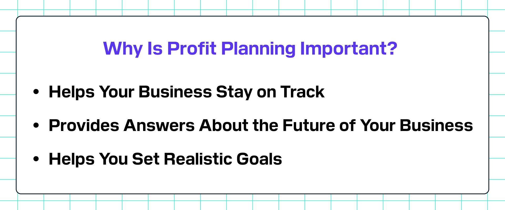 Why profit planning is important?
