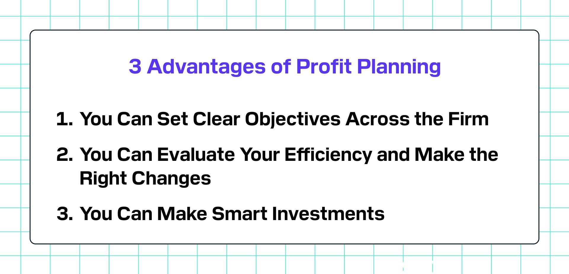 3 Advantages of Profit Planning